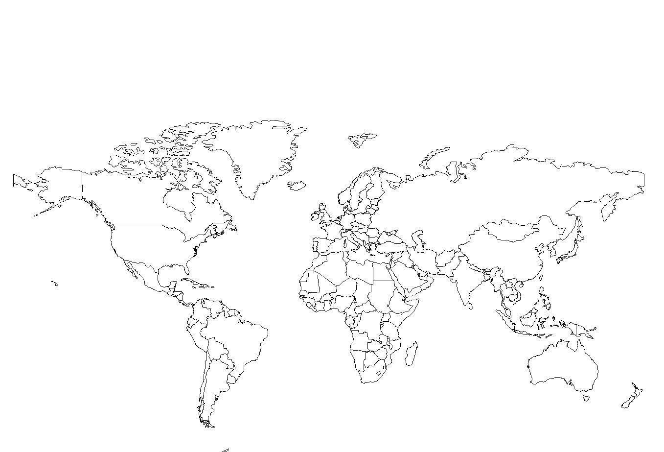 Carte muette monde - carte du monde